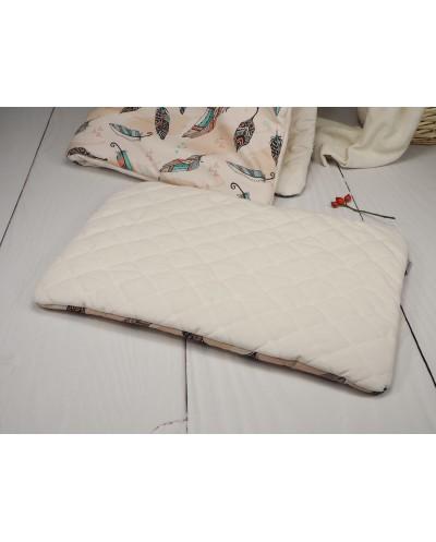 poduszka velvet boho piórka dziecięca dla dziecka