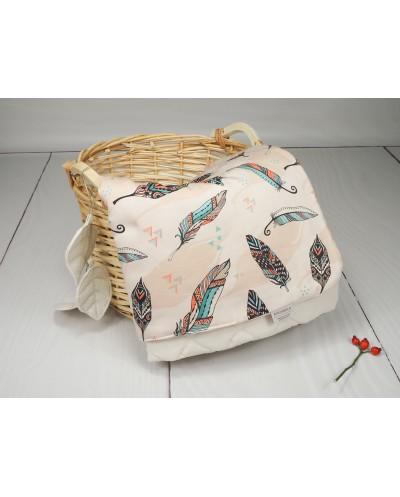 kocyk velvet piórka dla niemowlaka noworodka