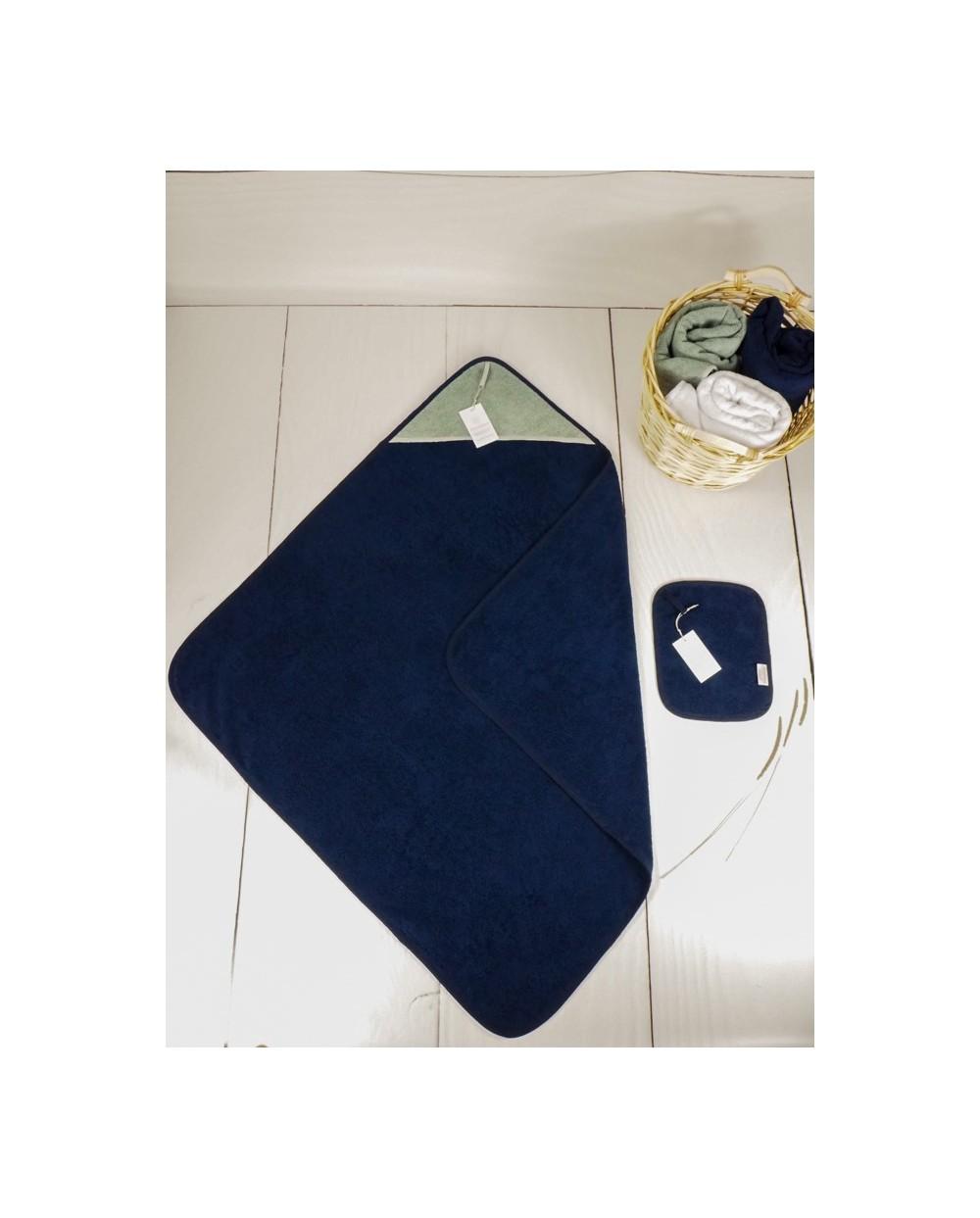 ręcznik granat frota niemowlęcy